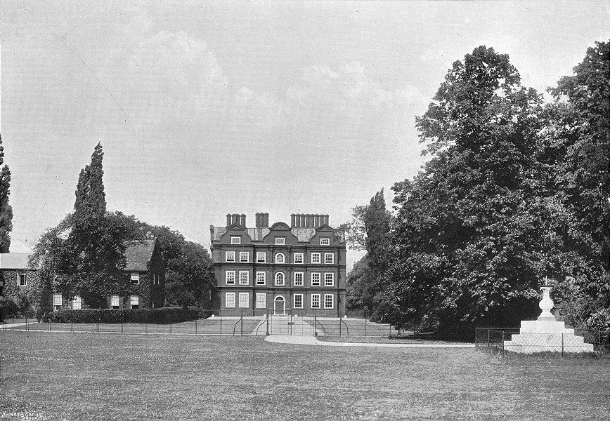 Associate Product LONDON. Palace, Kew 1897 old antique vintage print picture