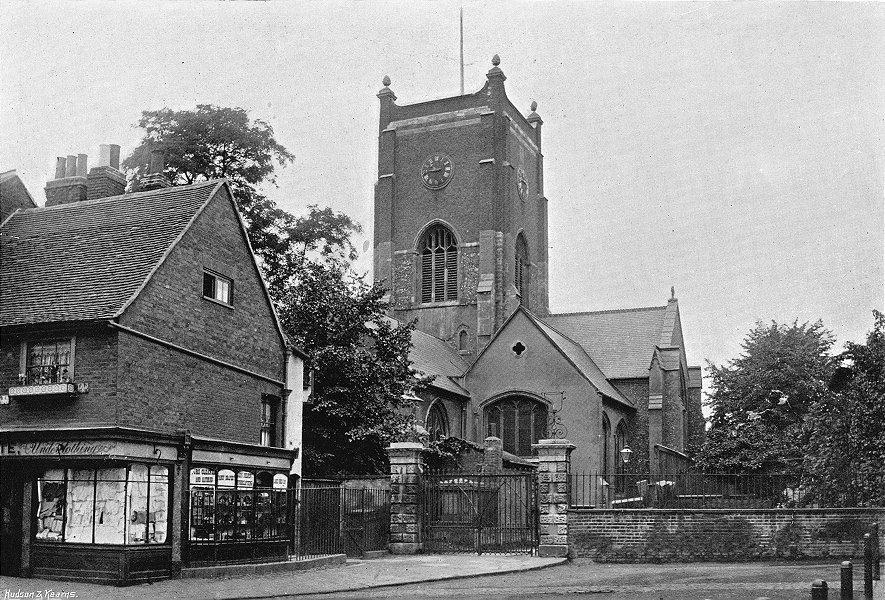 Associate Product LONDON. Kingston Church 1897 old antique vintage print picture