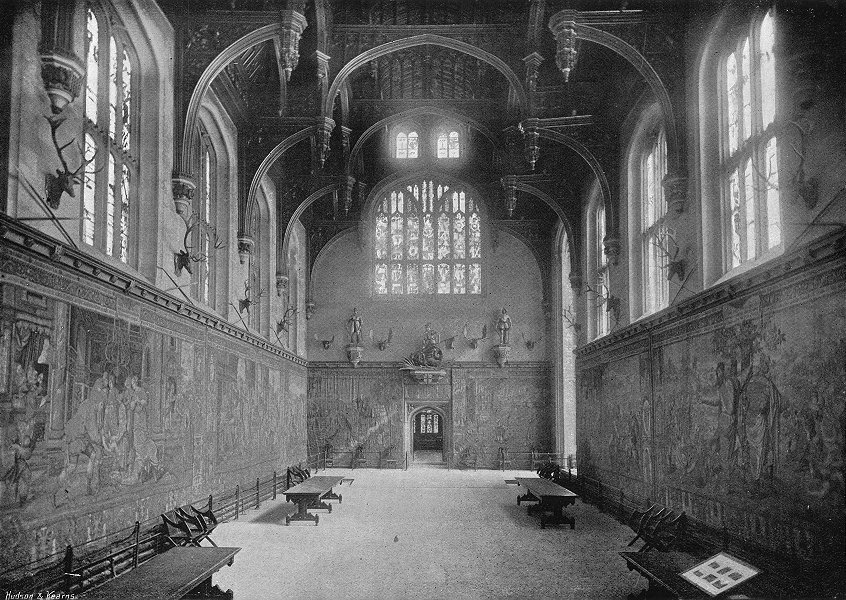 Associate Product HAMPTON COURT. Great Hall 1897 old antique vintage print picture