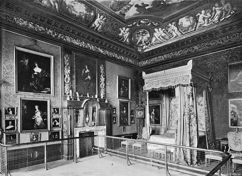 Associate Product HAMPTON Ct. King William Third's State Bedroom 1897 old antique print picture