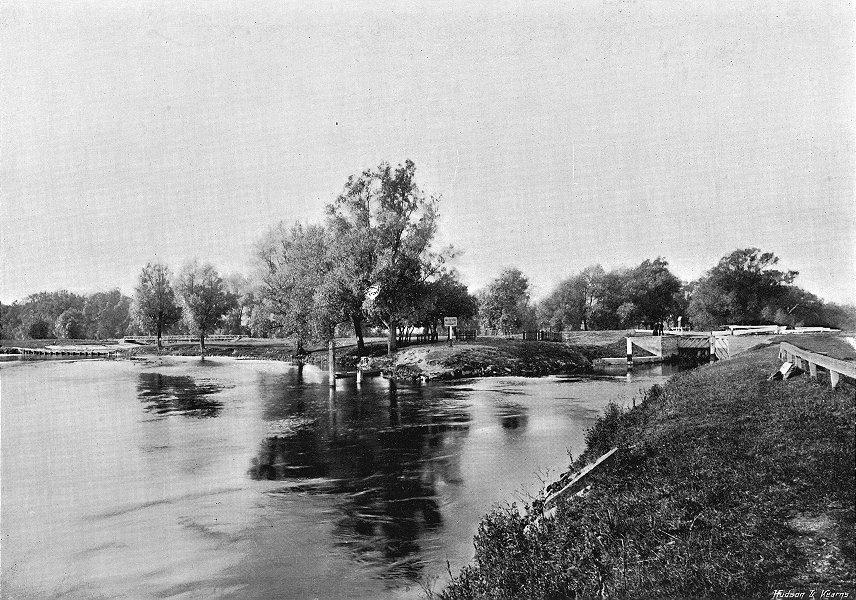 Associate Product SURREY. Penton Hook Lock 1897 old antique vintage print picture