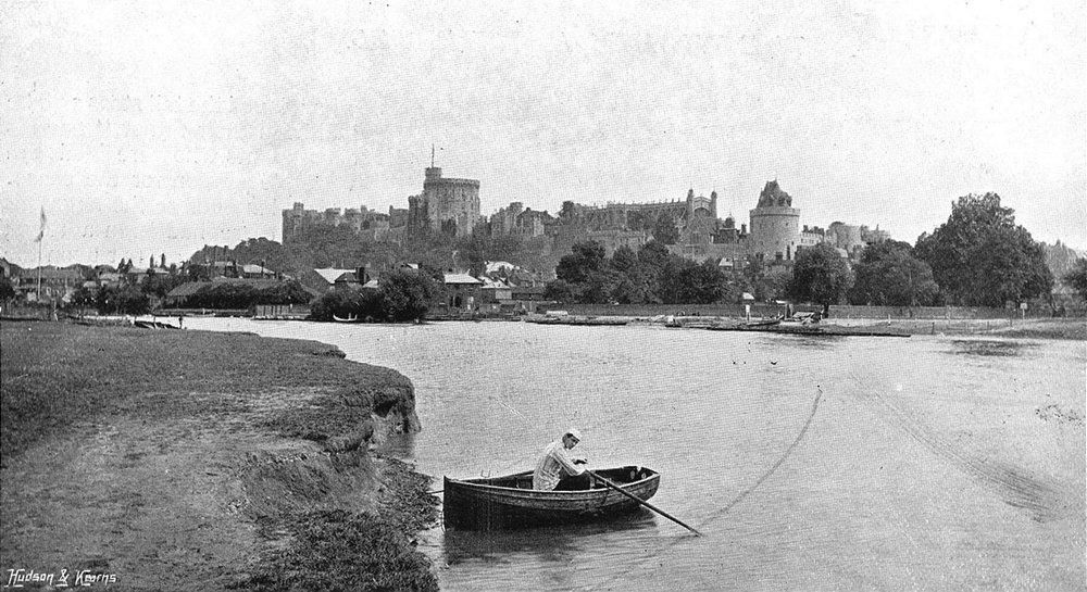 Associate Product BERKS. Windsor river 1897 old antique vintage print picture