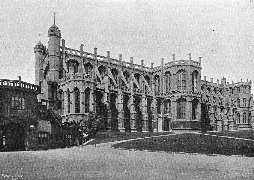 Associate Product WINDSOR. St George's Chapel 1897 old antique vintage print picture