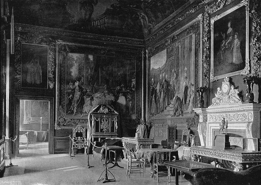 WINDSOR. Queen's Presence Chamber 1897 old antique vintage print picture