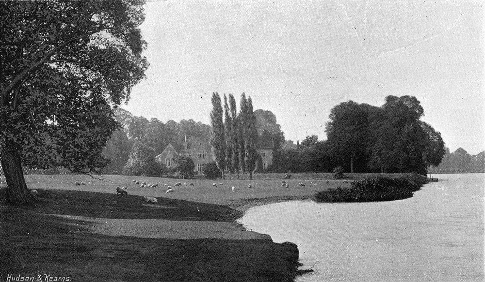 Associate Product BERKS. Bisham Abbey river 1897 old antique vintage print picture
