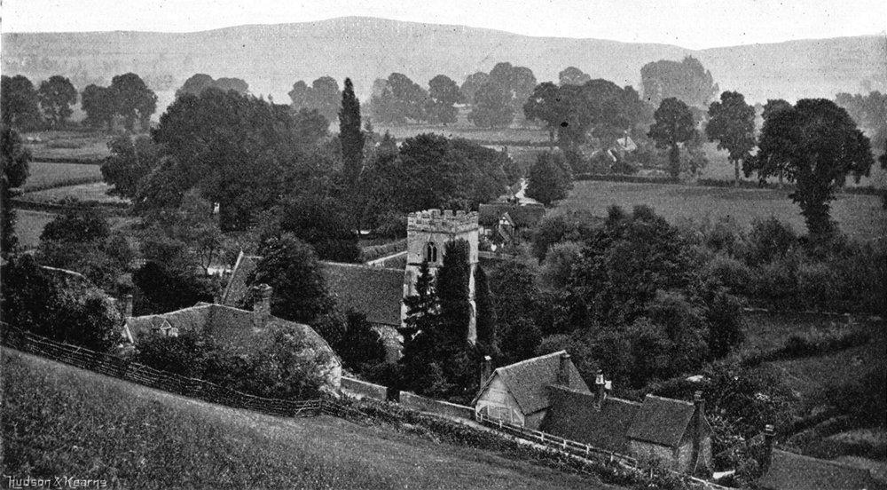 Associate Product BUCKS. Medmenham Hill 1897 old antique vintage print picture