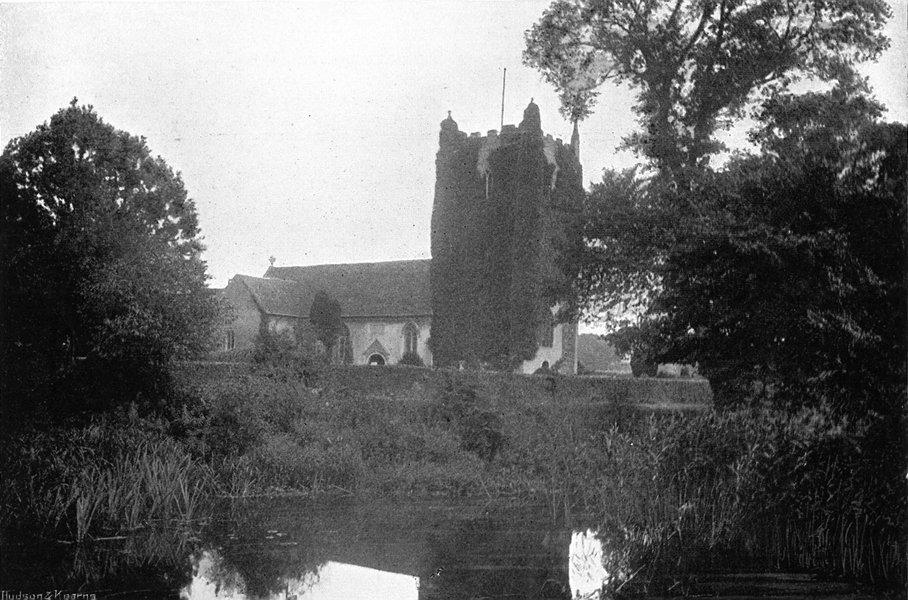 Associate Product BERKS. Wargrave Church 1897 old antique vintage print picture