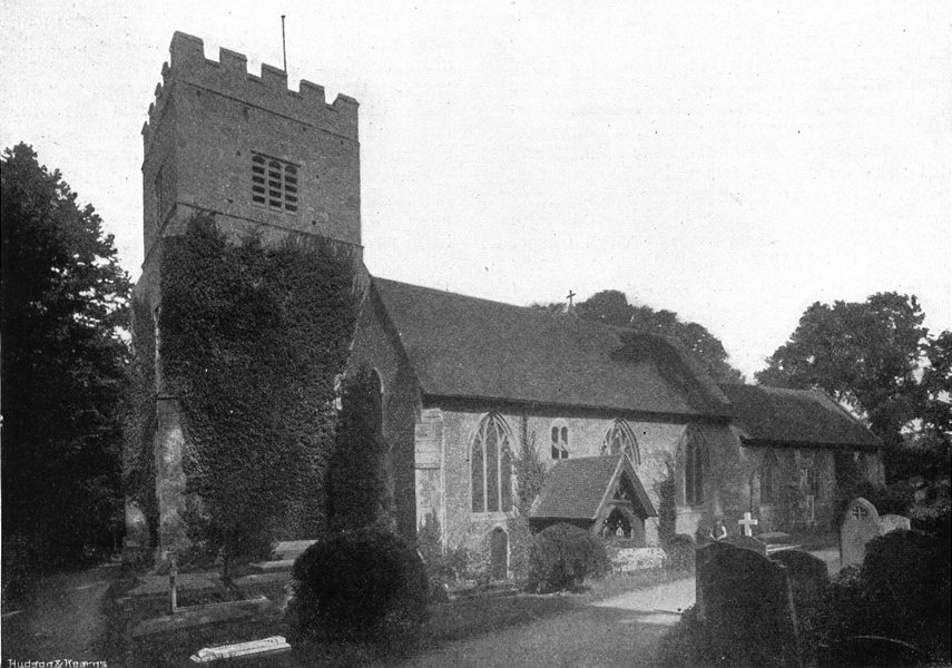 Associate Product BERKS. Sonning Church 1897 old antique vintage print picture