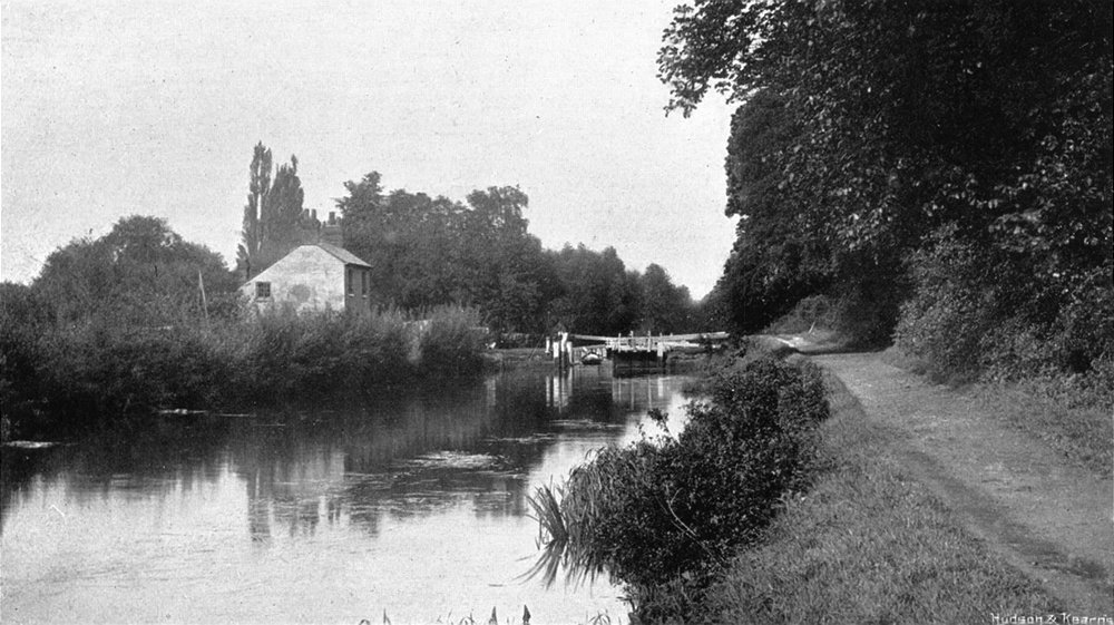 Associate Product BERKS. Sonning Lock 1897 old antique vintage print picture
