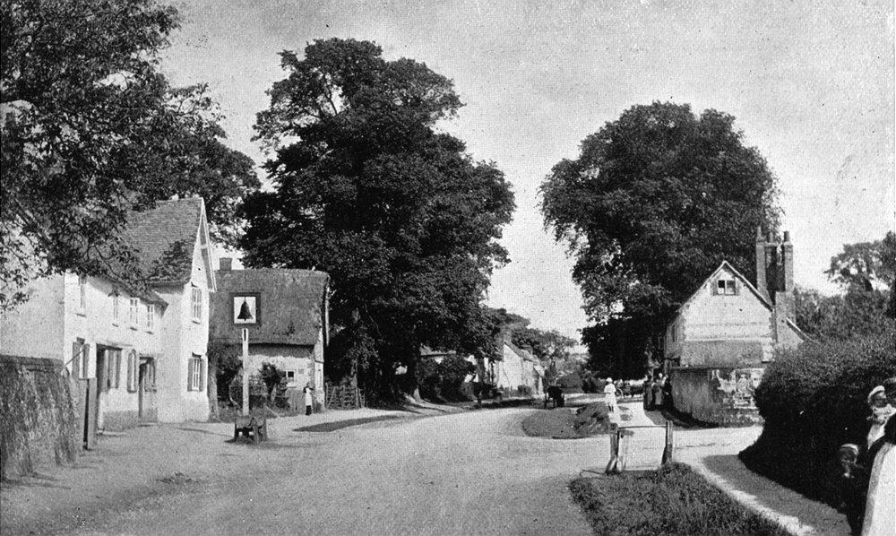 Associate Product OXON. Crowmarsh village 1897 old antique vintage print picture