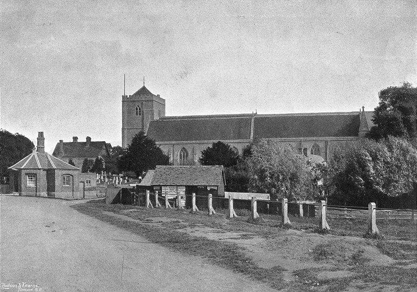 Associate Product OXON. Dorchester Abbey 1897 old antique vintage print picture