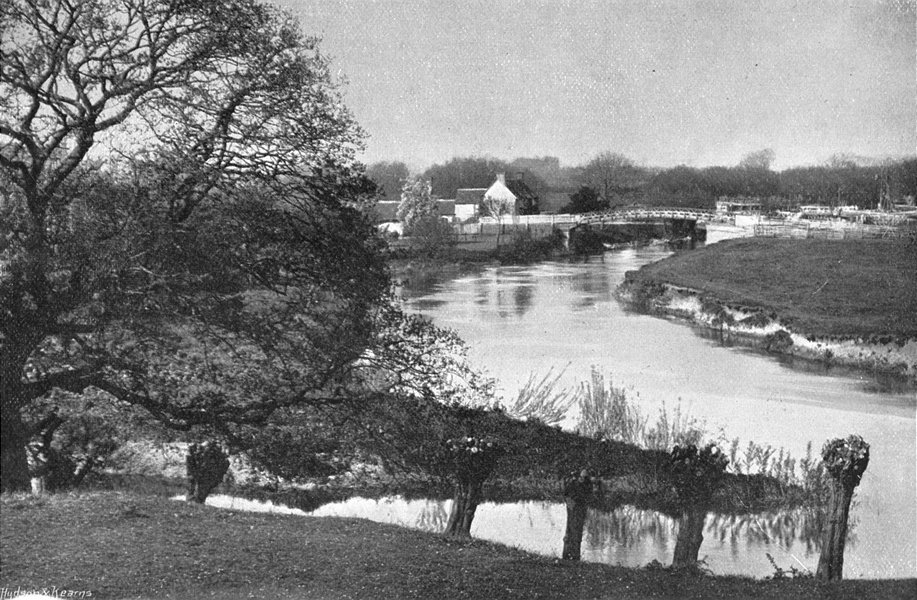 Associate Product OXON. Day's Lock, hill 1897 old antique vintage print picture