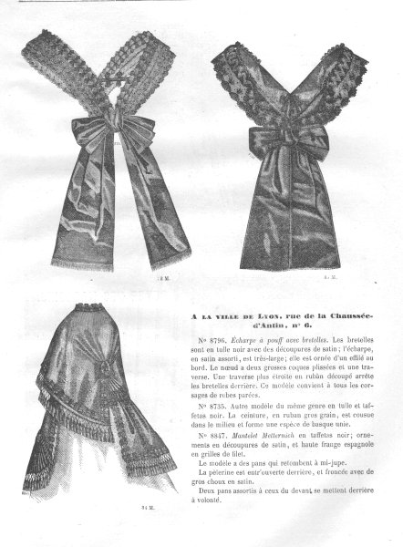 Associate Product FASHION. ladies clothing 1869 old antique vintage print picture