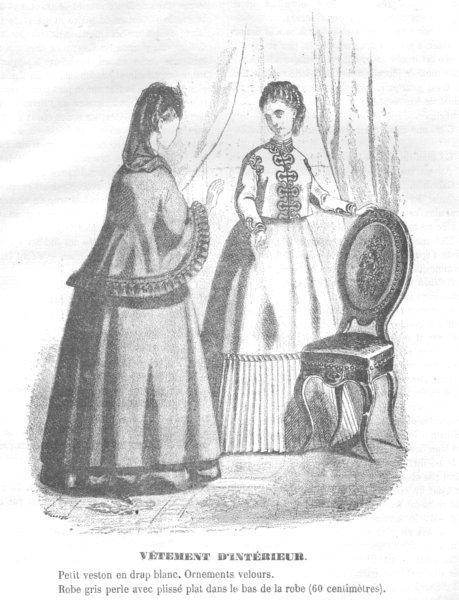 Associate Product FASHION. Elegant Parisian ladies 1869 old antique vintage print picture
