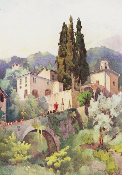 Associate Product ITALY. Lake Como. La Madonna della Pace, Lago di Como 1905 old antique print