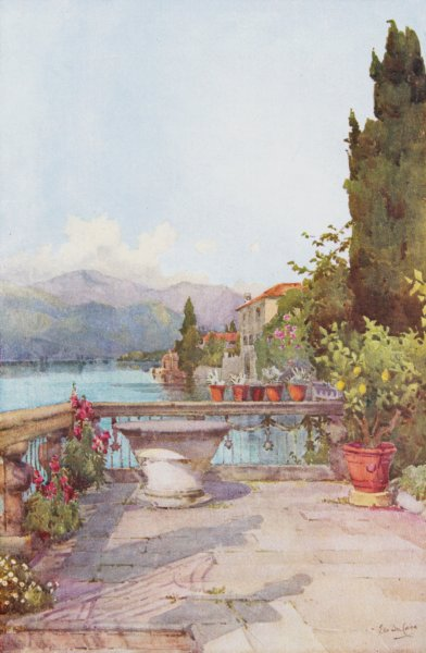 Associate Product ITALY. Lake Orta. A Garden, Orta, Ella du Cane 1905 old antique print picture