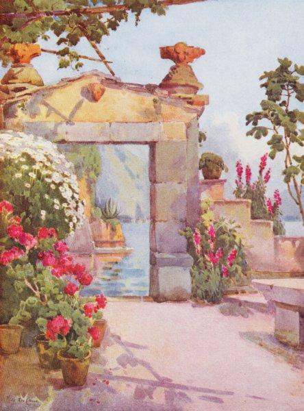 Associate Product ITALY. Lake Como. A Doorway at Varenna, Lago di Como 1905 old antique print