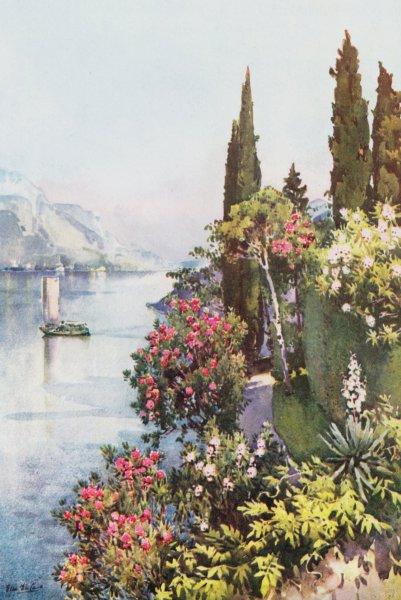 Associate Product ITALY. Lake Como. Villa Giulia, Lago di Como 1905 old antique print picture
