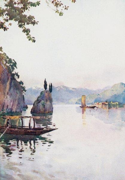 Associate Product ITALY. Lake Como. II Punto di Bellagio, Lago di Como 1905 old antique print