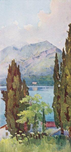 Associate Product ITALY. Lake Como. Monte Crocione, Lago di Como 1905 old antique print picture
