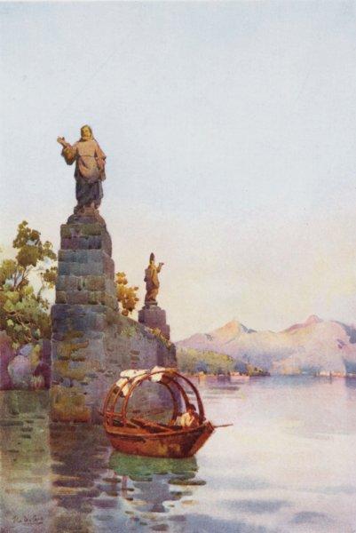 Associate Product ITALY. Lake. Lago di Como. Villa Arconati 1905 old antique print picture