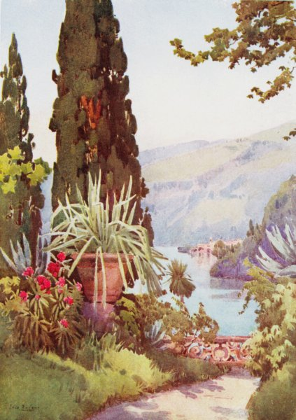 Associate Product ITALY. Lake. Lago di Como. Garden, Villa Arconati 1905 old antique print