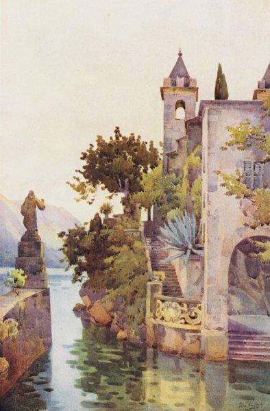 Associate Product ITALY. Lake Como. Villa Arconati, Lago di Como 1905 old antique print picture