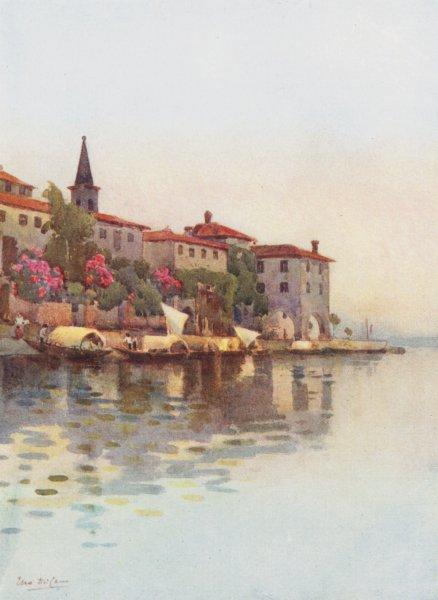 Associate Product ITALY. Lake Maggiore. A Grey Morning, Lago Maggiore 1905 old antique print