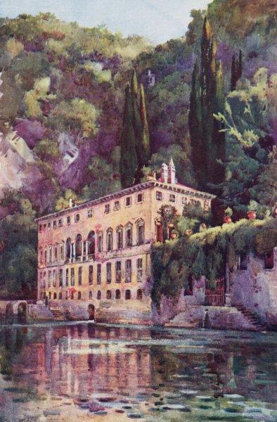 Associate Product ITALY. Lake Como. Villa Pliniana, Lago di Como 1905 old antique print picture