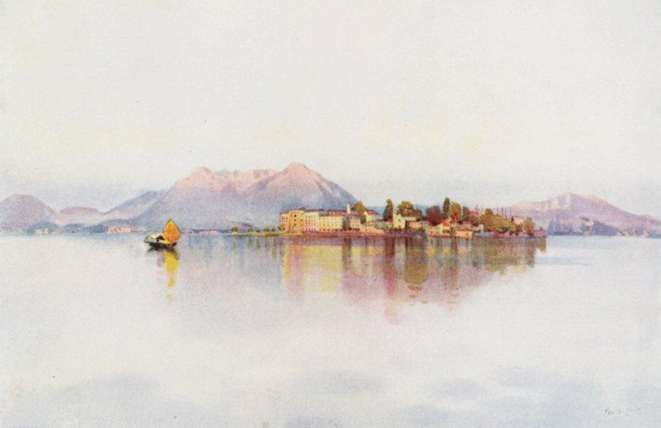 Associate Product ITALY. Lake Maggiore. Isola Bella, Lago Maggiore 1905 old antique print