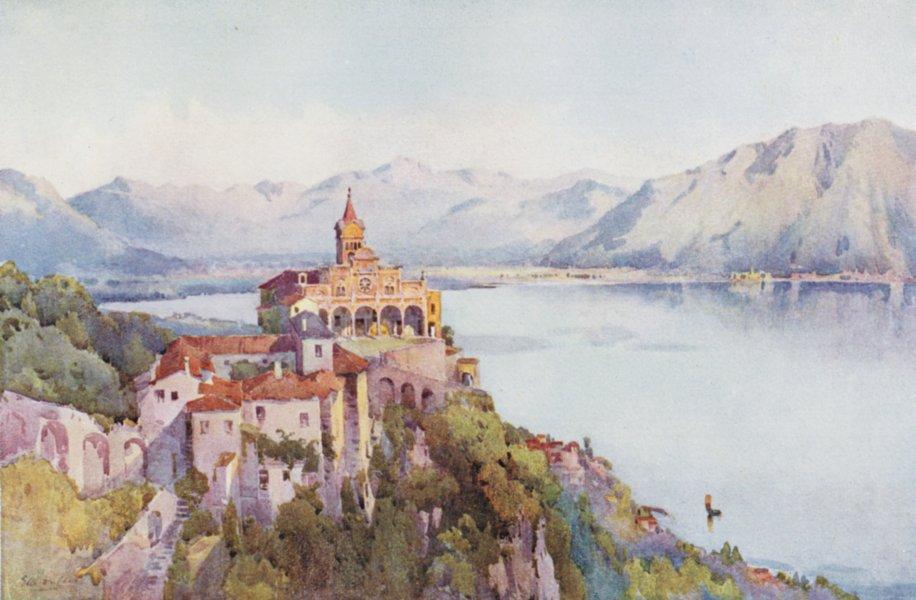 Associate Product ITALY. Lago di Maggiore. Madonna del Sasso, Locarno 1905 old antique print