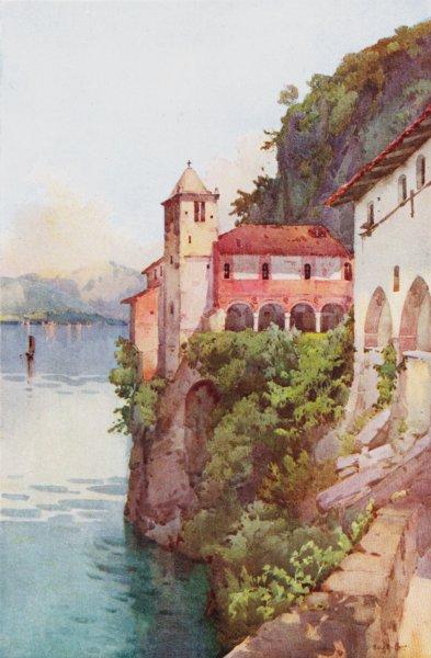 Associate Product ITALY. Lake Maggiore. Santa Caterina, Lago Maggiore 1905 old antique print