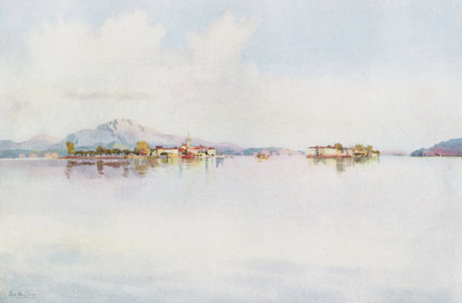 Associate Product ITALY. Lake Maggiore. Isola Bella & Isola Pescatori 1905 old antique print