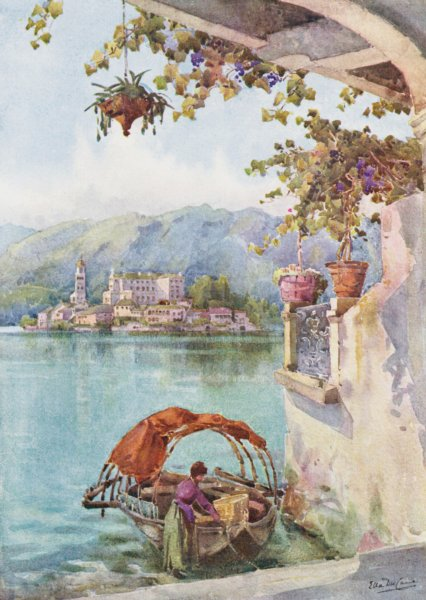 Associate Product ITALY. Lake Orta. An Archway at Orta 1905 old antique vintage print picture