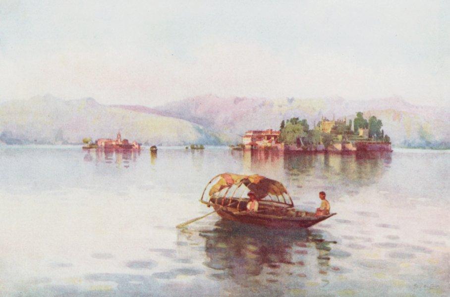 Associate Product ITALY. Lake Maggiore. Summer Evening, Lago Maggiore 1905 old antique print
