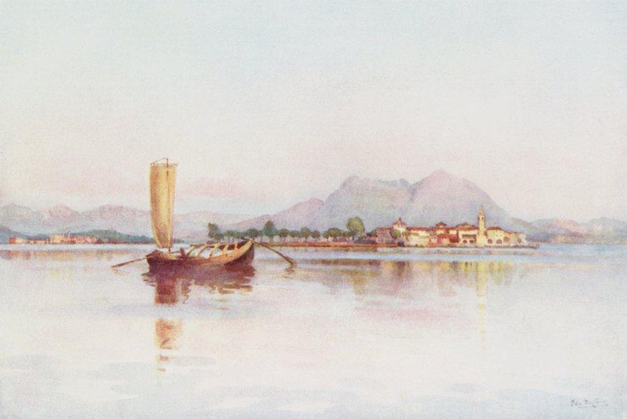 Associate Product ITALY. Lake Maggiore. Isola Pescatori, Lago Maggiore 1905 old antique print
