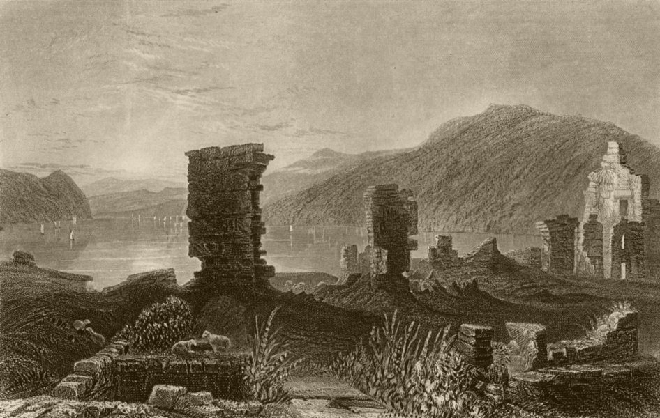 Associate Product View of the Ruins of Fort Ticonderoga, New York. WH BARTLETT 1840 old print