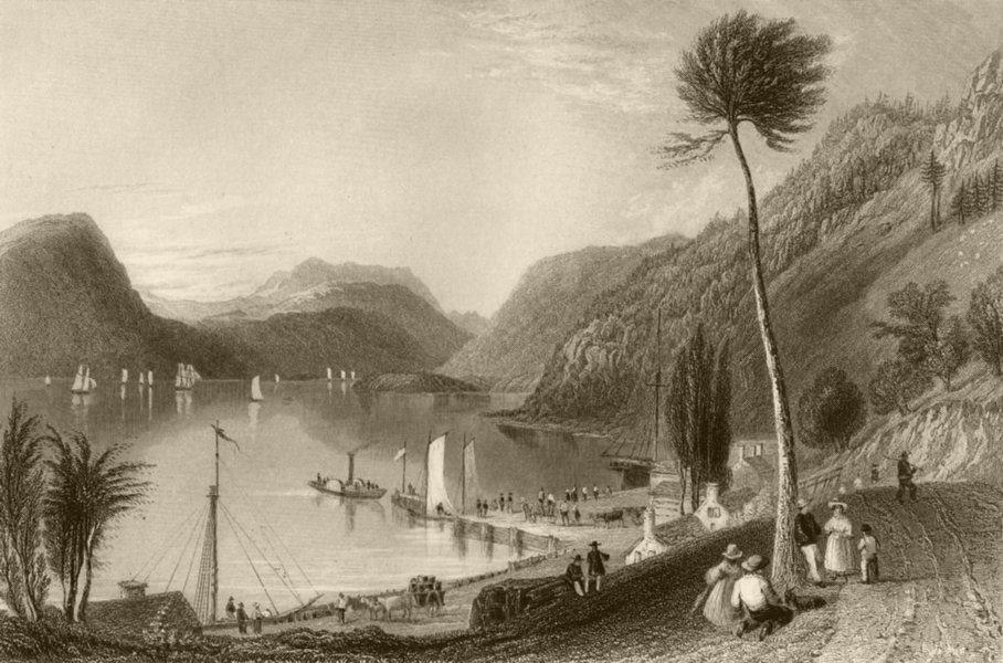 Associate Product Peekskill Landing (Hudson River), New York. WH BARTLETT 1840 old antique print