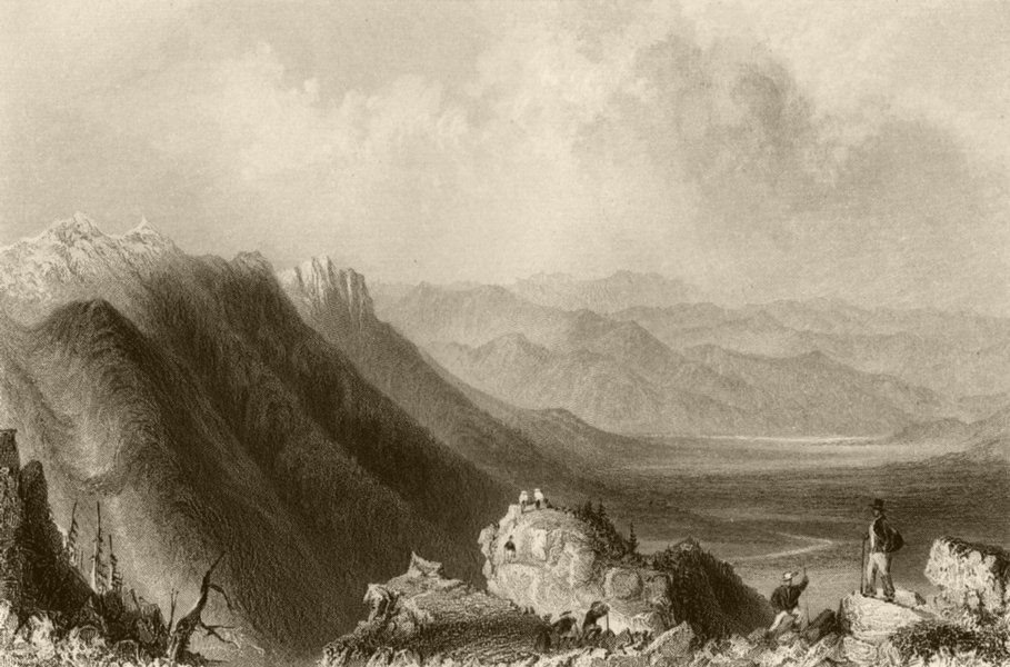 Associate Product View From Mount Washington, New Hampshire. WH BARTLETT 1840 old antique print
