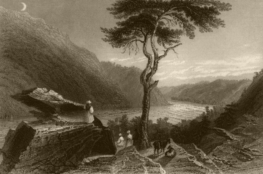 Associate Product Shenandoah valley from Jefferson's Rock, Harper's Ferry, WV. BARTLETT 1840
