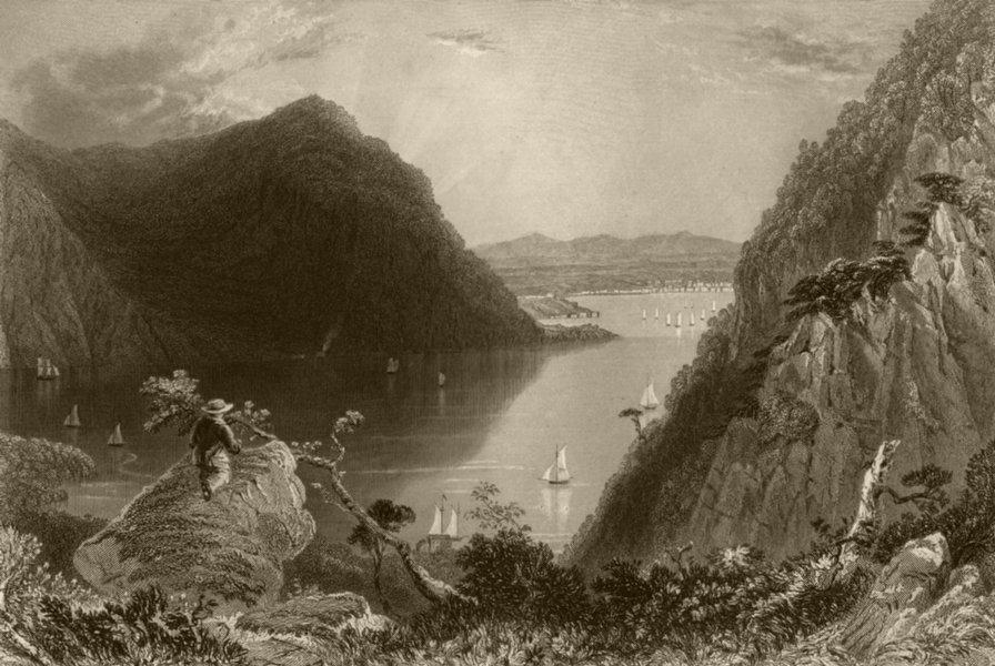 Associate Product Hudson Highlands (from Bull Hill), New York. WH BARTLETT 1840 old print
