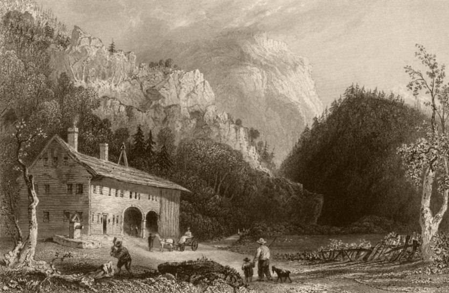 Associate Product The Notch House, White Mountains, New Hampshire. WH BARTLETT 1840 old print