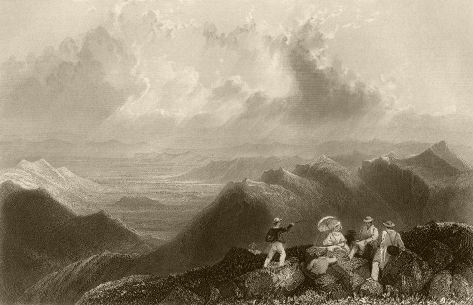 Associate Product Mount Jefferson (from Mount Washington), New Hampshire. WH BARTLETT 1840 print
