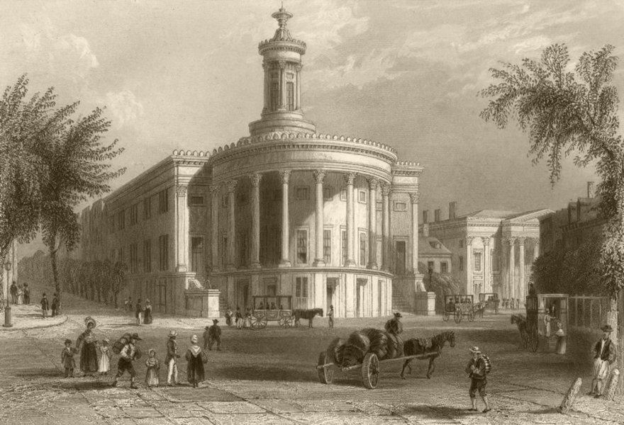 Associate Product The Exchange, and Girard's Bank (Philadelphia), Pennsylvania. WH BARTLETT 1840