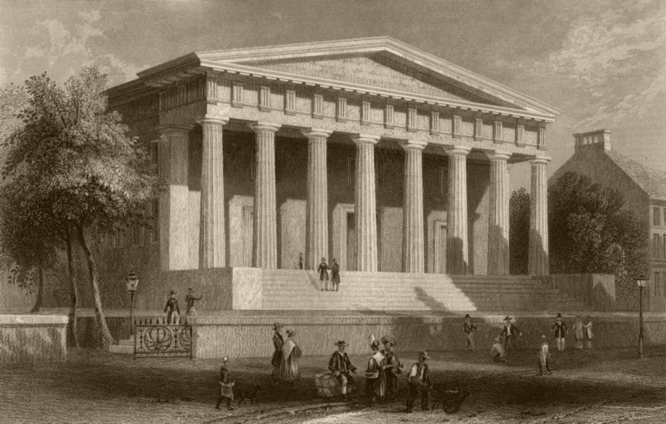 Associate Product The United States Bank, Philadelphia, Pennsylvania. WH BARTLETT 1840 old print