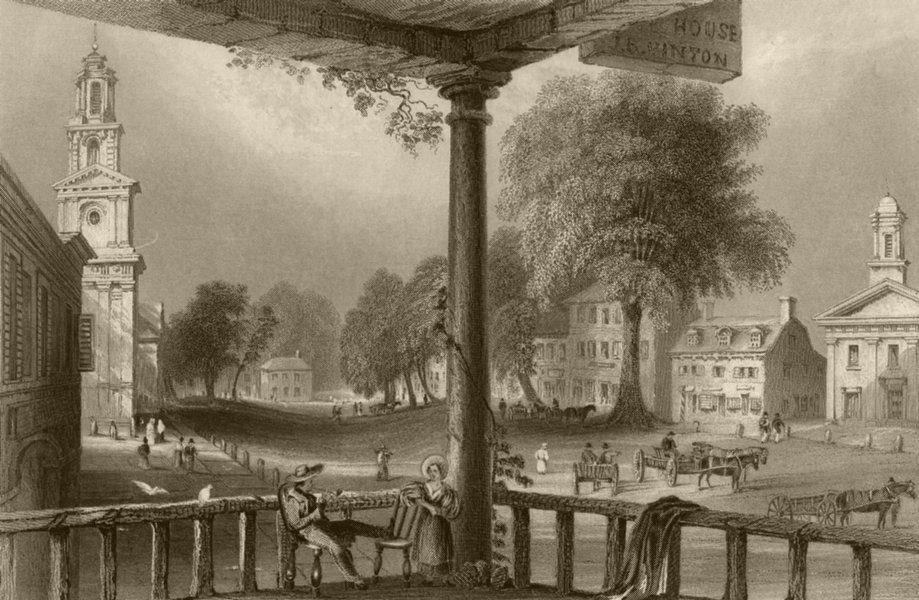 Associate Product Northampton (Massachusetts), Massachusetts. WH BARTLETT 1840 old antique print