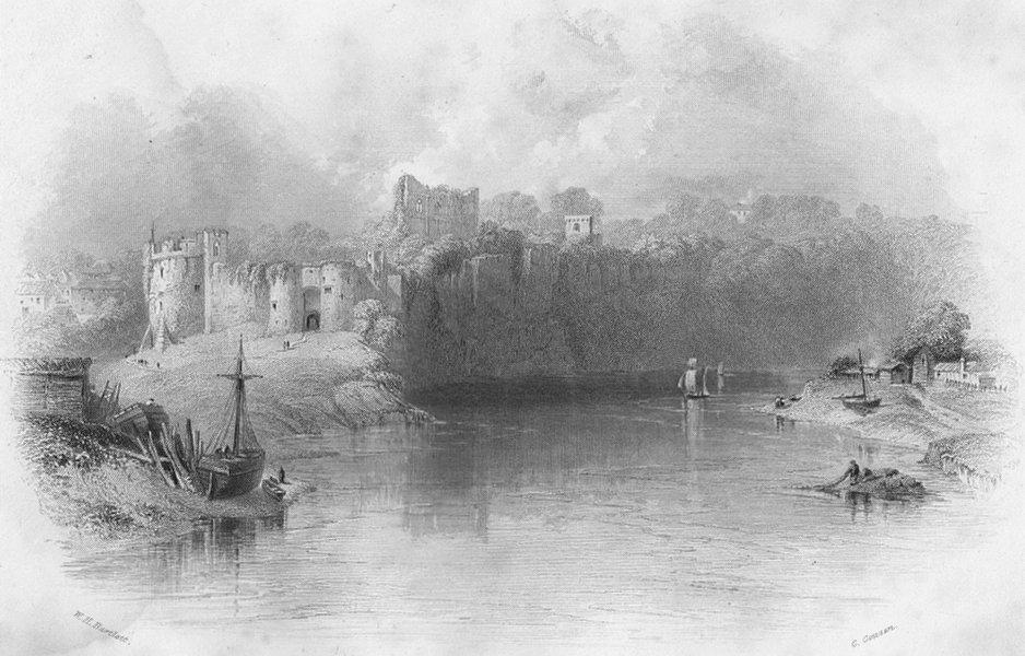Associate Product WALES. Chepstow Castle-Bartlett c1860 old antique vintage print picture
