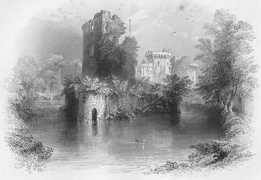 Associate Product WALES. The Keep Tower-Bartlett c1860 old antique vintage print picture