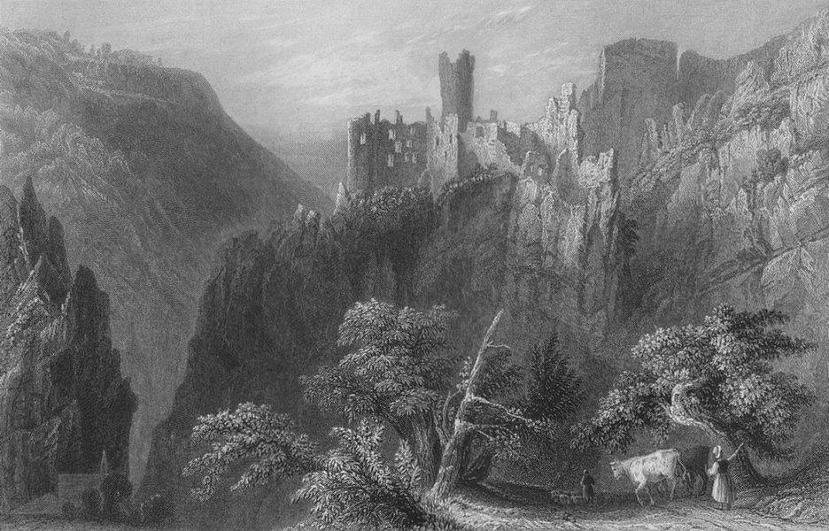 Associate Product SWITZERLAND. Castle of Falkenstein (Canton Soleure). BARTLETT 1836 old print