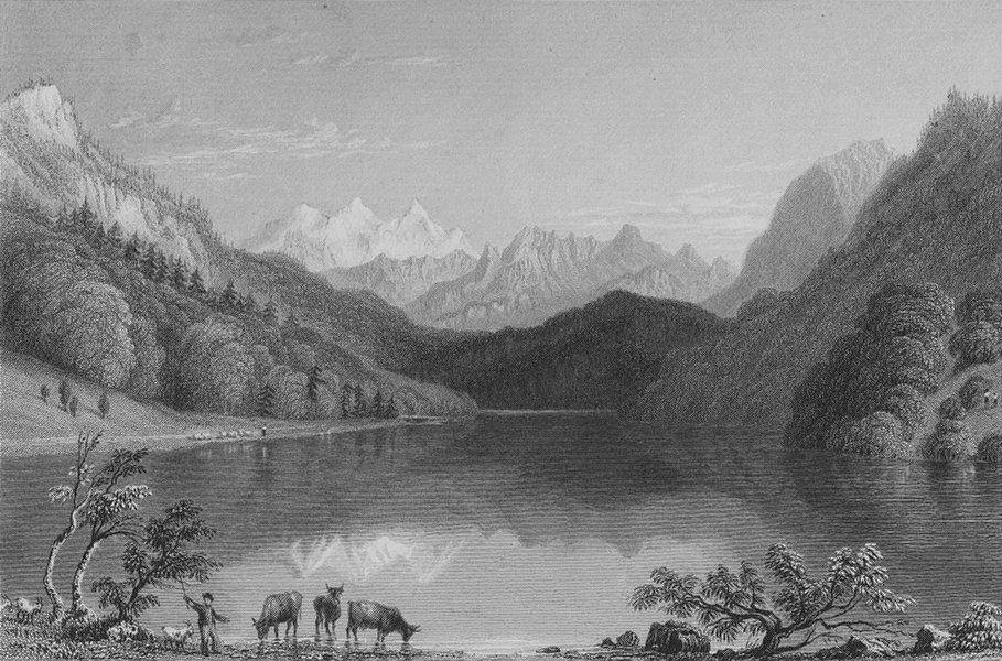 Associate Product SWITZERLAND. Lake of Lungern (Canton of Unterwalden). BARTLETT 1836 old print